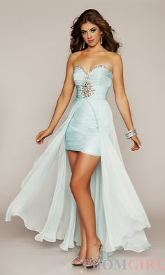 Strapless High-Low Dress 6367N CS-MD-6367N    Too much like a cape?
