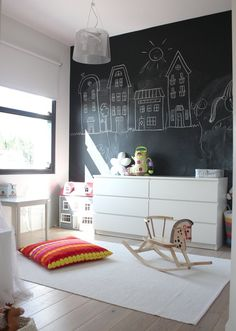 I love the idea of a chalk walk in her room but she will eventually grow out of it so, I'm thinking of putting it in the sitting room!