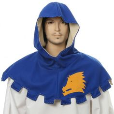 Gugel mit Applikation eines heraldisches Symbol verziert Medieval Clothing, Almost Always, Middle Ages, Hoodies, Sweatshirts, Sweaters, Clothes, Shopping, Inspiration