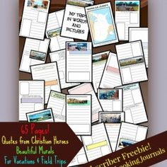 FREE 65 Page Vacation and Field Trip Notebooking Pages