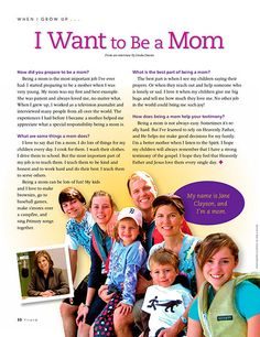 A great way to talk to children about the important role of mothers.
