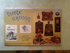 Vintage HOME CROWN Patterns & Instruction for Dimensional Painting BOOK
