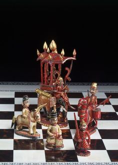 Chess Set (Chess set) | Object: Chess set  Place of origin: Rajasthan, India (made)  Date: mid-19th century (made)