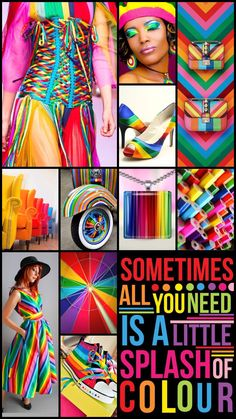 A splash of colour by Cath #moodboard #color #colorful #rainbow