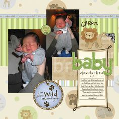 scrapbooking layouts for baby shower | This layout includes the following Pixelbooking product(s):