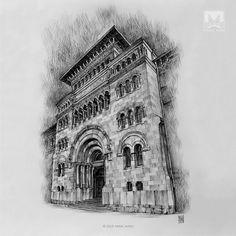 AFSHIN AMINI ART STUDIO | #AfshinAminiArt #PenAndInkDrawing #Sketchbook #Art #Architecture #Drawing #Sketching #PenDrawing #InkDrawing Medieval, Ink Pen Drawings, Drawing Artist, You Funny, Ink Art, Louvre, Architecture, Sketching, Studio