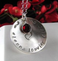 Stainless Steel Hand Stamped MEGA MOM or by StampedByTheHeart, $35.00