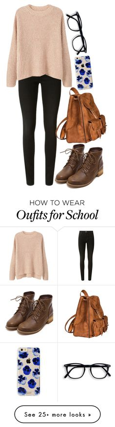 """""""Guys it's like 5AM and I have school tomorrow 0-o I swear I have self-induced insomnia or something."""" by slightly-invisible on Polyvore featuring J Brand, MANGO, Yves Saint Laurent and Sonix"""