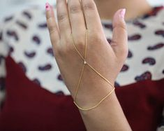 Diamonds by the yard hand Bracelet Ring Bracelet Hand Chain | Etsy Hand Bracelet, Hand Chain, Diamond, Bracelets, Rings, Jewelry, Bangles, Jewlery, Jewels