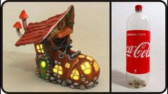 ❣DIY Fairy Boot House Lamp Using Coke Plastic Bottle❣