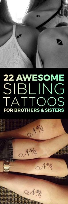 Matching Sibling Tattoo Designs | TattooBlend I like the letter and number combo.