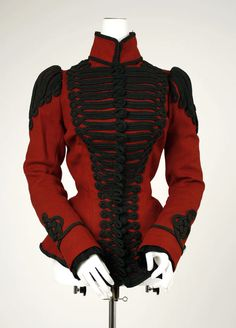 omgthatdress:    Jacket ca. 1899 via The Costume Institute of The Metropolitan Museum of Art  Not Worth, but too pretty not to pin.