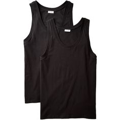 Two-Pack Cotton Tanks (72 CHF) ❤ liked on Polyvore featuring men's fashion, men's clothing, men's shirts and men's tank tops