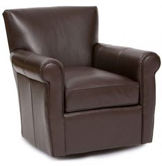 Peter Leather Swivel Chair - Furniture - Chairs - Leather - Recliners, Swivel, Gliders