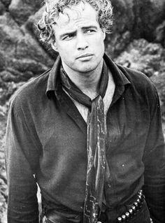 "Marlon Brando on the set of ""One-Eyed Jacks"" (1961)"