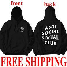 90409d8138eb AntiSocial Social Club Hoodie Anti Social Social Club Hooded Kanye  Sweatshirts