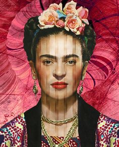 'Die mexikanische Malerin Frida Kahlo' by Harald Fischer on artflakes.com as poster or art print $18.95