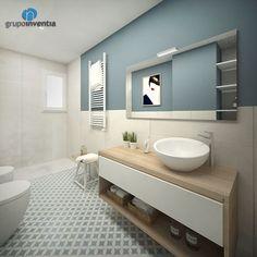 Proyecto de reforma de baño suite en Diagonal de Barcelona - Grupo Inventia