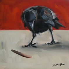 Crows—Inspiring Painters for years Crow Art, Raven Art, Bird Art, Crow Painting, Painting & Drawing, Bird Paintings, Life Is Strange, Crows Drawing, Illustrations