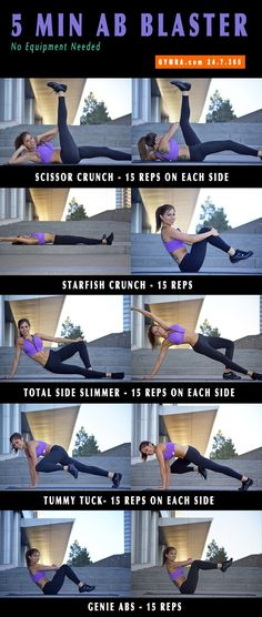 Tone up your #abs and slim down with these easy, yet effective moves. #fitness #exercise #workout #weightloss #health #muscles