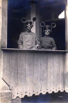 Sound finders were used in World War I to figure out which way enemy planes were coming from.