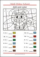 Grade Math Learning - Free Printable Math Worksheets and Activities Math Coloring Worksheets, Free Printable Math Worksheets, Number Worksheets, 1st Grade Math, Grade 1, Numbers Preschool, Basic Math, Writing Numbers, Math Facts