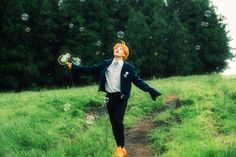 Jimin and his orange hair days