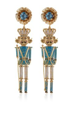 Prince Charming Chandelier Earrings by DOLCE & GABBANA for Preorder on Moda Operandi