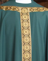 The Holy Rood Guild > Chasubles & Copes > St Fintan Chasuble: green liturgical vestment for priest or deacon Priest, Saints, Green