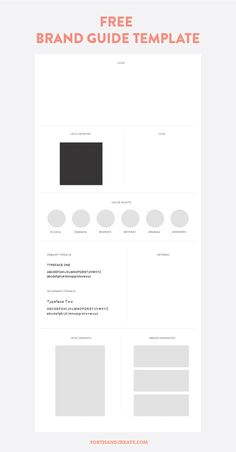 How to create a brand guide + free templated included! Forth and Create