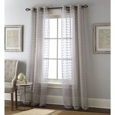 Nanshing Payton Solid Grommet-Top, Curtain Panel Pair - On Sale - Overstock - 14637195 - 37 x 95 - Grey Sheer Curtain Panels, Grommet Curtains, Sheer Curtains, Window Curtains, Curtain Rods, Window Rods, Window Panels, Curtain Length, Houses