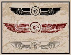 Eye of Horus Grunge royalty-free stock vector art