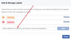 create facebook labels How To Use Facebook, Facebook Messenger, Good Customer Service, Philippines, How To Apply, Ads, Messages, This Or That Questions, Digital
