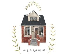 Ideas house drawing illustration for 2019 Art And Illustration, Building Illustration, Watercolor Illustration, Illustrations Posters, Buch Design, Cute House, House Drawing, Home Art, Creations