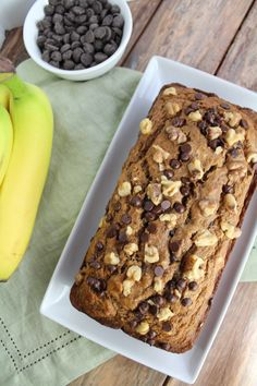 Clean Eating Banana Bread is made with just a few simple, healthy ingredients. Super easy to make + full of flavor - it's perfect for breakfast or snacking!