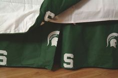 Michigan State Spartans Printed Dust Ruffle (Full): This College Covers brand Dust Ruffle is… #SportingGoods #SportsJerseys #SportsEquipment