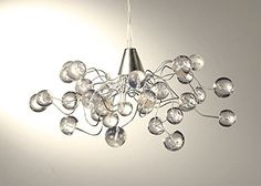 Transparent Bubble chandelier lightshade  handmade ceiling light for living roomdining room outdoor patio and office lighting -- Details can be found by clicking on the image. (Note:Amazon affiliate link)