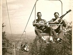 Holy moly - a doghouse bass on a skylift?????? Only the Country Gentleman...