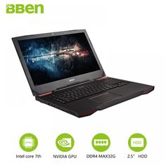17.3 Inch 1920*1080 FHD Screen Gaming Backlit Laptop GTX1060 UltraBook With I7-7700HQ 16G RAM 128G/256G SSD WIFI Pro Window10  Price: 2432.00 & FREE Shipping  #tech #electronics #gadgets #lifestyle