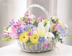 Композиции : Корзинка с цветами-5 - Fito Art