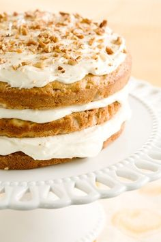 Paula Deen Banana Nut Cake with Cream Cheese Frosting