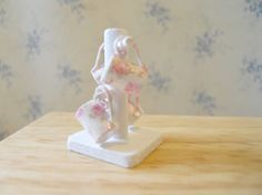 ****SOLD**** Shabby Pink Roses  Dollhouse Miniature by TheQuirkyCurioShoppe, $12.00