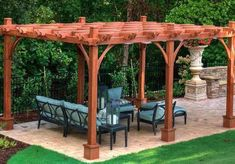The pergola kits are the easiest and quickest way to build a garden pergola. There are lots of do it yourself pergola kits available to you so that anyone could easily put them together to construct a new structure at their backyard. Cedar Pergola, Curved Pergola, Pergola Attached To House, Pergola Swing, Deck With Pergola, Outdoor Pergola, Pergola Lighting, Wooden Pergola, Covered Pergola