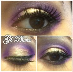 Gold and purple eyes.. bold and beautiful!