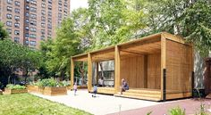 casita' or 'little house' is part of the project by NYRP (new york restoration project) and urban air foundation. together, they tasked TEN arquitectos to develop an adaptable structure to serve as a platform for a diverse array of activities such as a food preparation station, stage for performances to just a straightforward spot for solace and shade. the resulting design came to a timber modular structure, sensitive to its outdoor garden context.