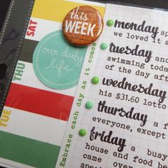a place in my dreams: project life weeks 1 and 2...