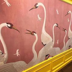 5 Simple Ideas to Improve Your Dining Room Design – Voyage Afield Hand Painted Wallpaper, Hand Painted Walls, Print Wallpaper, Interior Design Career, Mural Painting, Beautiful Wall, Dining Room Design, Decoration, Chinoiserie