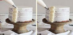 frilly cake {a tutorial} - i am baker Cake Decorating Techniques, Cake Decorating Tutorials, Cookie Decorating, Decorating Ideas, Decorating Cakes, Decor Ideas, Icing Recipe, Frosting Recipes, Cake Icing