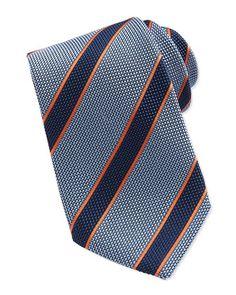 Textured Stripe Tie, Blue/Orange by Charvet at Neiman Marcus.