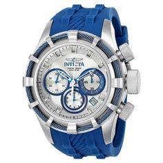 Invicta Men's 22152 Bolt Quartz Chronograph Silver, Blue Dial Watch